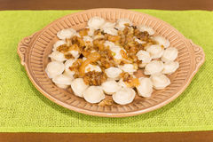Home-made dumplings Stock Images
