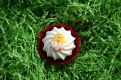 Home made easter muffin decorated with easter egg. Royalty Free Stock Photos