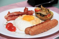 Home made English Breakfast Royalty Free Stock Images