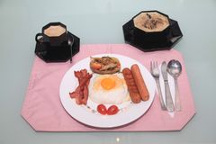 Home made English Breakfast Royalty Free Stock Photos