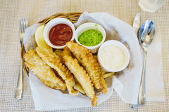 Home made Fish & chips stock image