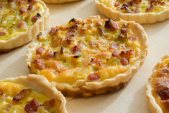 Home made French quiche lorraine. Royalty Free Stock Photography