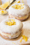 Home-made fresh doughnuts stock photos
