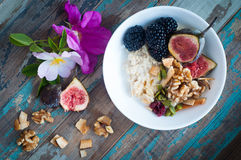 Home made fresh fruit muesli Stock Image