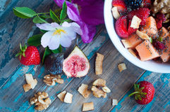 Home made fresh fruit muesli Royalty Free Stock Photos