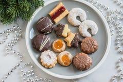 Home made German Christmas cookies Royalty Free Stock Photo
