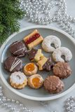 Home made German Christmas cookies Stock Images