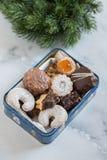 Home made German Christmas cookies Stock Photos