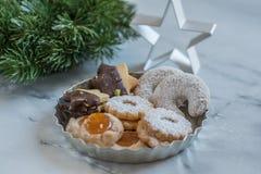 Home made German Christmas cookies Stock Image