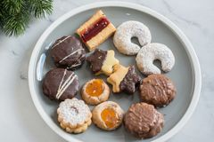 Home made German Christmas cookies Royalty Free Stock Images