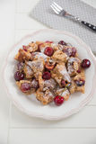 Home made German Pancakes with cherries Stock Image