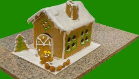Ginger bread house Stock Images