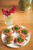 Home-made ham sandwieches Royalty Free Stock Photo