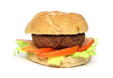 Home made hamburger with lettuce tomato Stock Images