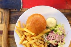 Home made hamburger Stock Photography