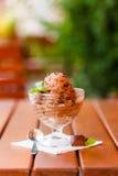 Home made ice cream - parfait Stock Photo
