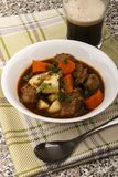 Irish guinness beef stew in a bowl Royalty Free Stock Image