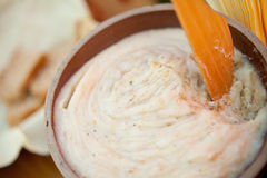 Home-made lard Stock Images