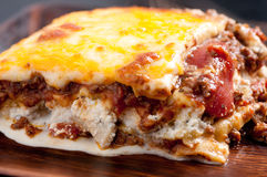 Home made lasagna, an italian holiday meal Royalty Free Stock Image