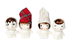 Home made The Lover ceramic dolls Royalty Free Stock Images