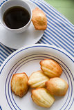 Home made Madeleine cookies, coffee cup Stock Photo