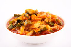 Home made mango pickle in a bowl. Royalty Free Stock Photos