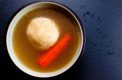 Home made matzoh ball soup Royalty Free Stock Photography