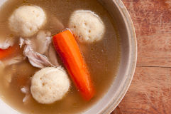 Home made matzoh ball soup Stock Image