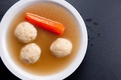 Home made matzoh ball soup Royalty Free Stock Photos