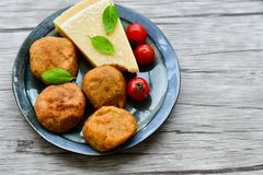 Home made meat balls royalty free stock image