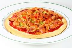 Mixed sausage pizza. Home made mixed sausage pizza Stock Photos