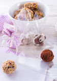 Home-made  nibble - muesli. Small ball Stock Images