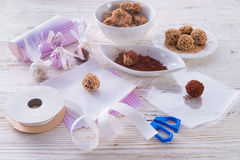 Home-made  nibble - muesli. Small ball Royalty Free Stock Photography
