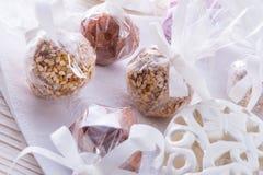 Home-made nibble small ball. Home-made nibble - muesli - small ball Stock Image