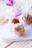 Home-made nibble small ball. Home-made nibble - muesli - small ball Royalty Free Stock Photo