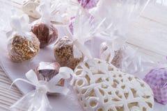 Home-made nibble small ball. Home-made nibble - muesli - small ball Stock Images