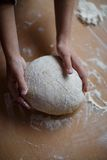 Home-made noodles and homemade dough. Making home-made noodles and home dough Stock Photography