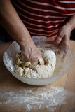 Home-made noodles and homemade dough. Making home-made noodles and home dough Stock Image