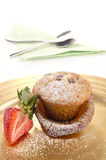 Home made old english pie with strawberry Royalty Free Stock Photography