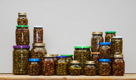 Home Made Olives Collection Royalty Free Stock Photos