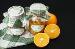 Home made orange and peach marmalade Stock Image
