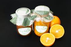 Home made orange and peach marmalade Stock Photography