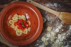 Home made Orecchiette pasta Royalty Free Stock Photo