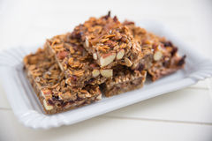 Free Home Made Organic Granola Bars Stock Photography - 46037552