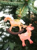 Home made painted Christmas ornament Stock Photos