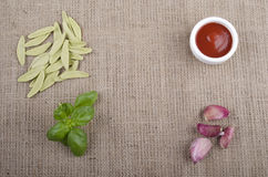 Home made pasta from durum wheat Royalty Free Stock Photography