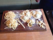 Home made pasta Royalty Free Stock Photos
