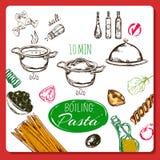 Home Made Pasta Recipe Stock Image
