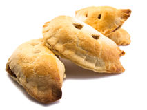 Home Made pasties in a row Royalty Free Stock Photo