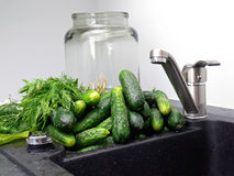 Home-made pickling Royalty Free Stock Photography